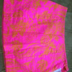 Lilly Pulitzer Skort - Pink and Orange size 4